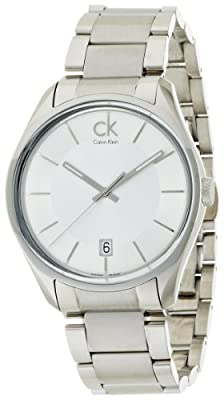 Calvin Klein Men's 'Masculine' Swiss Quartz Stainless Steel Casual Watch, Color:Silver-Toned (Model: K2H21126)