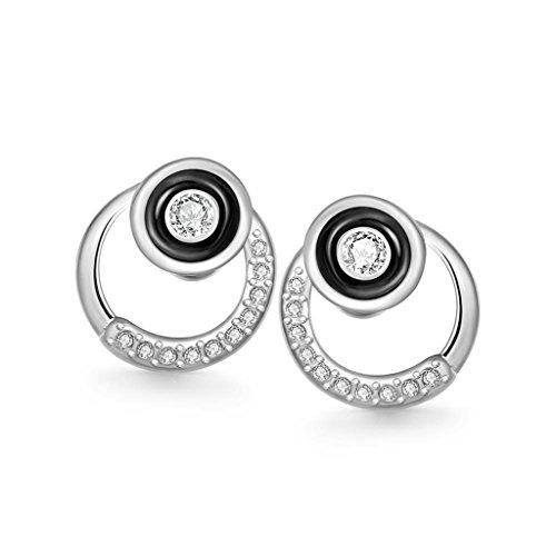 18K Gold Plated Earrings, Women's Stud Earrings Round Ring Fashion Jewelry Epinki