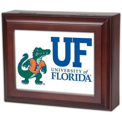 Collegiate Digital Music Jewelry Box Finish: Wood Grain, Ncaa Team: University Of Florida