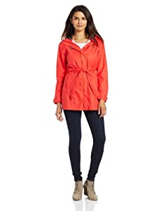 Columbia Women's Pardon My Trench Rain Jacket, Red Hibiscus, Medium