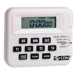 CDN PT1A Digital Timer Clock 4 Event Programmable by Component Design