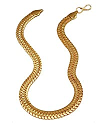 Gold Plated 21 Inches Long THE SNAKE Chain for Boy's & Men's by Charms
