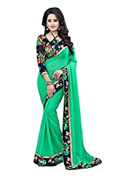 Fashion205 Women Faux Georgette Saree (OCO-AR8-1053_Green_Green_Free Size)