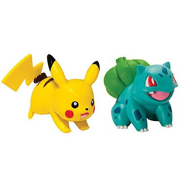 Pokemon – Bulbizarre Vs Pikachu – 2 Mini Figurines 3 cm
