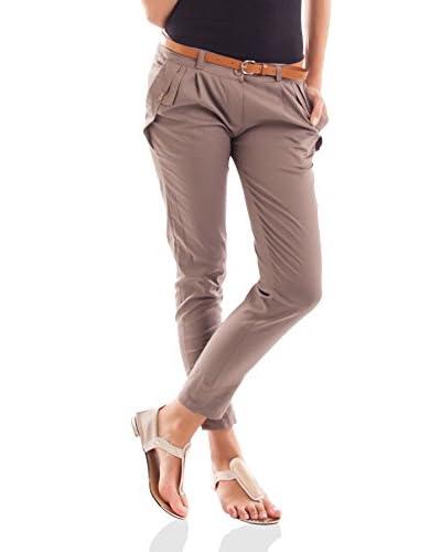 Victoria Beckett Pantalone 63781 [Beige]
