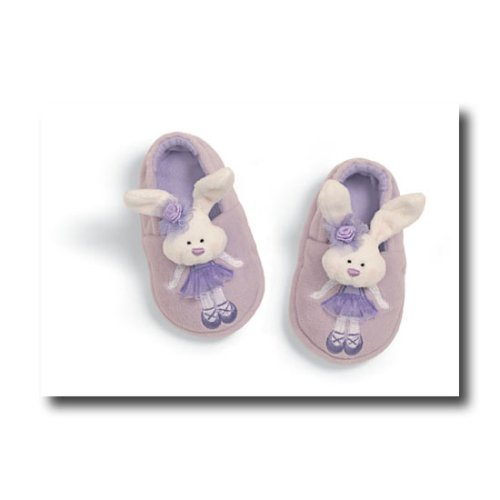 Tippy Toes Ballerina Lilac Bunny Baby Booties by Gund - Buy Tippy Toes Ballerina Lilac Bunny Baby Booties by Gund - Purchase Tippy Toes Ballerina Lilac Bunny Baby Booties by Gund (Toys & Games, Categories, Stuffed Animals & Toys, More Stuffed Toys)