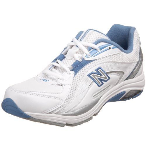 New Balance Women's WW846 Walking Shoe,White/Blue,10 B