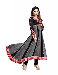 Pinkshink Black Georgette Salwar Kameez Dress Material-KRM216