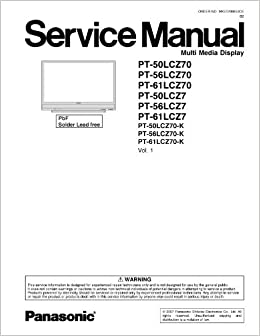 Panasonic PT-61LCZ7, PT-56LCZ70 and more Service Manual ...