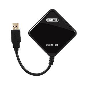 Unitek USB 3.0 /2.0 4-Port Ultra-Mini Hub-Black