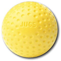 Buy Jugs Yellow Dimpled Baseballs, 9-Inch, One Dozen by Jugs