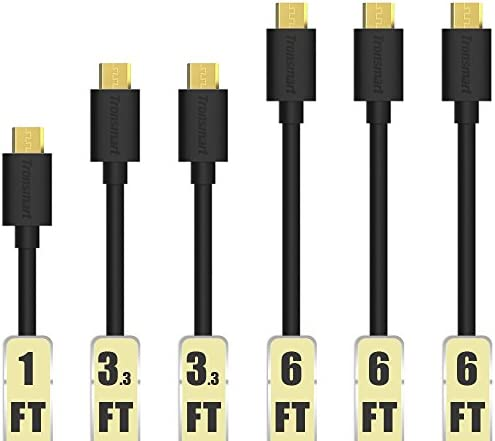 6-Pack Tronsmart Micro USB Cables