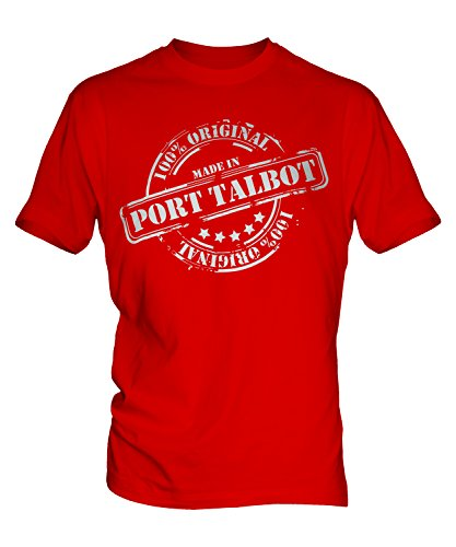 made-in-porta-talbot-unisex-t-shirt-bambini-top-ragazzi-ragazze-bambini-bambini-red-12-anni