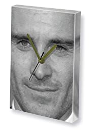 MICHAEL FASSBENDER - Canvas Clock (LARGE A3 - Signed by the Artist) #js002