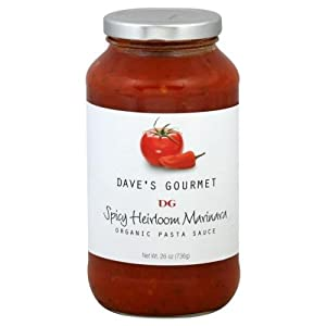 Daves Gourmet Spicy Heirloom Marinara 2550 Oz Pack Of 6 from Daves Gourmet