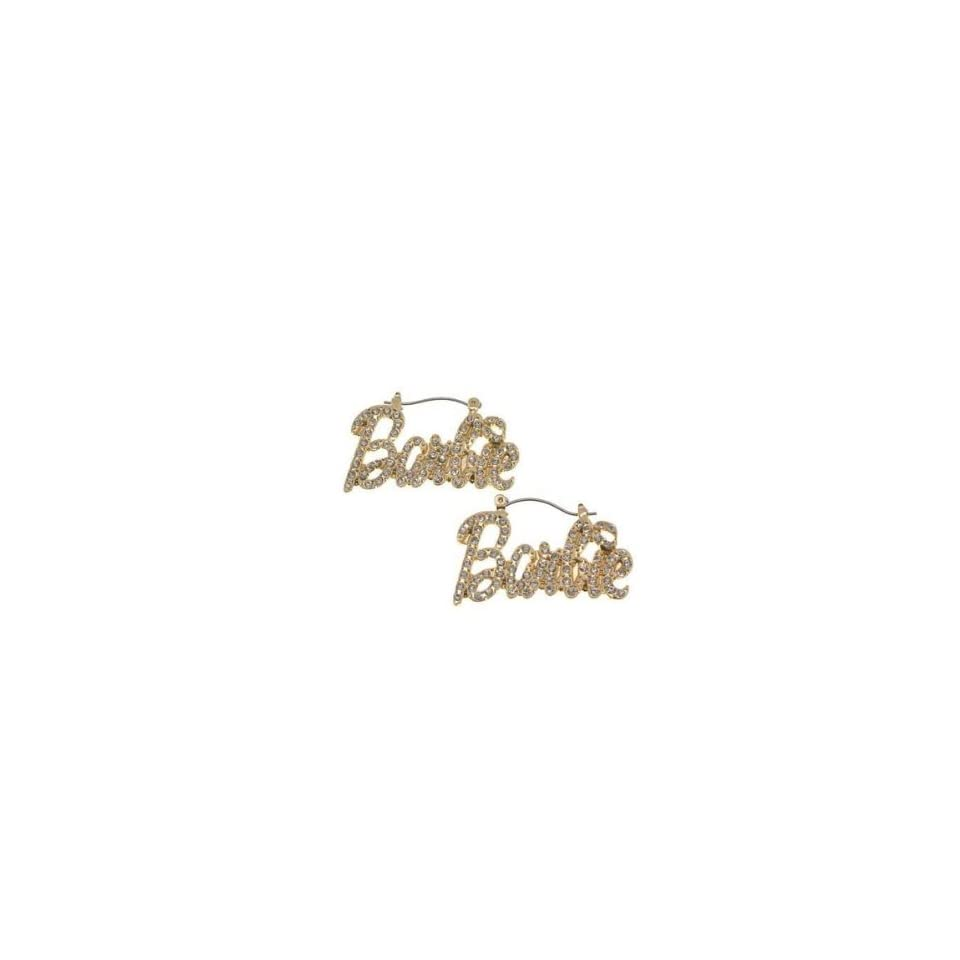NICKI MINAJ BARBIE Pincatch Rhinestone Earring Gold