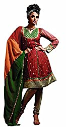 Silk India Women's Vol.3 All Time Hits Dress Material (53_Red)