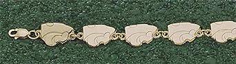 Kansas State Wildcats 3 8 Powercat 7 3 8 Bracelet - 14KT Gold Jewelry by Logo Art