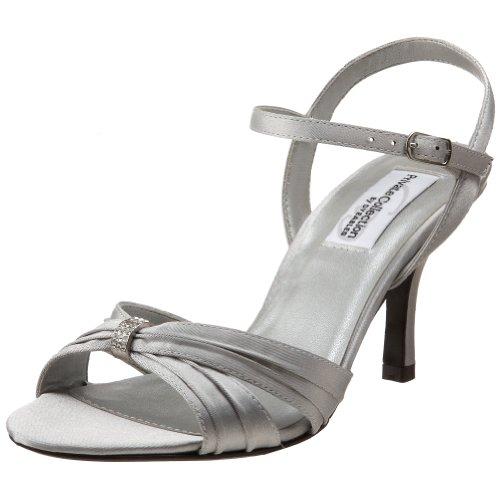 Dyeables Women's Natalie Sandal,Silver Satin,10 M US