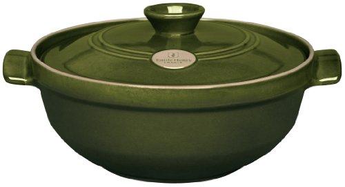Emile Henry 4-Quart Risotto Pot, Olive