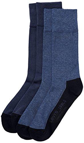 Levi's - Calzini, Uomo, Blu (Blau (mid denim 824)), Taglia produttore: 43-46
