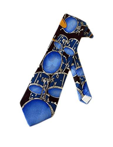 Fratello-Mnner-Schlagzeug-Krawatte-blau-Einheitsgre
