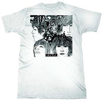 FEA Men's The Beatles Short Sleeve T-Shirt,White,Large