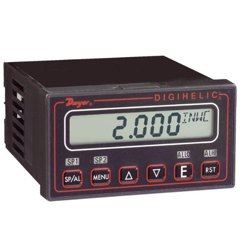"Dwyer® Digihelic® Differential Pressure Controller, DH-016, 5-0-5"" w.c., 3 in 1: Gage, Switch and Transmitter"