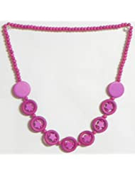 Magenta Stone Bead Tibetan Necklace - Stone Beads