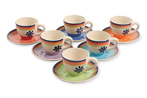Galileo Casa 2408608 Lot de Tasses à Café en Grès Multicolore