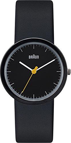 Braun BN0021BKBKBKL - Reloj analógico de cuarzo para mujer con correa de piel, color negro