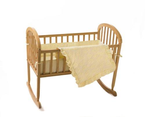 American Baby Company Teddy Bear Terry Cradle Set, Ecru