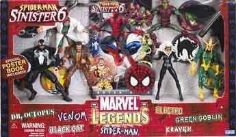 Marvel 'Legends' - Spiderman  &  Sinister 6 Gift Pack