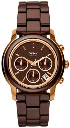 DKNY Chronograph Rose Gold Brown Dial Women's Watch NY8430