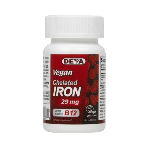 Deva Vegan Vitamins Chelated Iron - 29 Mg - 90 Tablets