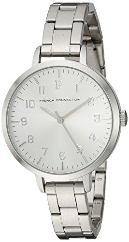 French Connection FC1248SM - Orologio da polso da donna, cinturino in acciaio inox colore argento