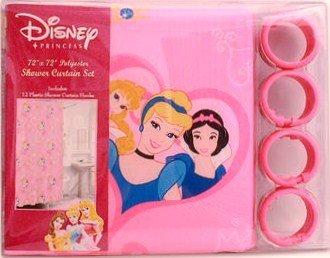 Disney Princess Pink Shower Curtain W/12-Hook Set front-5798