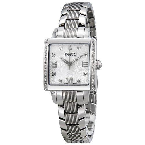 Accutron by Bulova Masella Stainless Steel and Diamond Ladies Watch 63R103
