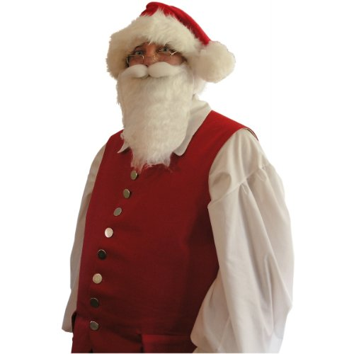 Economy White Santa Beard Costume Accessory