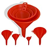 4-Size Plastic Funnel Set for Liquids Dry Goods