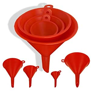 4-Size Plastic Funnel Set for Liquids Dry Goods by ProTool
