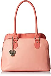 Butterflies Women's Handbag (Dark Peach) (BNS 0548DPCH)