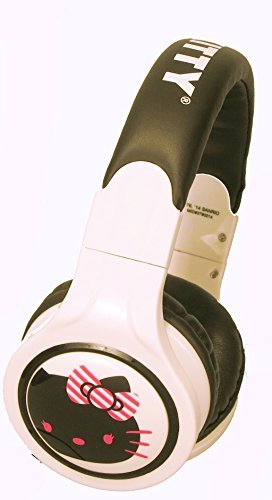 Hello Kitty Headphones With In-Line Mic, White - 35509