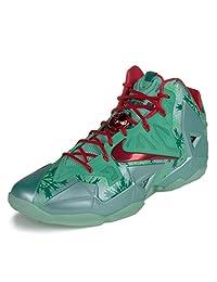 "Nike Mens Lebron XI ""Christmas"" Synthetic Basketball Shoes"