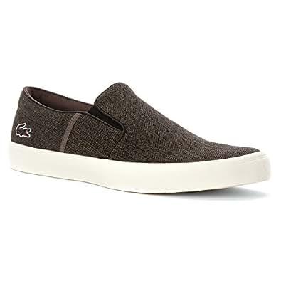 Amazon.com: Lacoste Men's Gazon 6 Slip-On Sneaker Loafers Shoes: Shoes