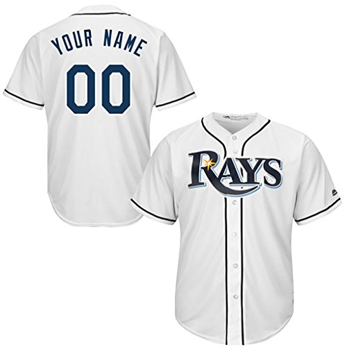 Generic Tampa Bay Rays Personalized White Jerseys Kevin Kiermaier #39 Youth Size L