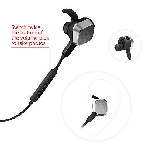 bluetooth headphones oittm universal sport running headphones magnetic wir. Black Bedroom Furniture Sets. Home Design Ideas
