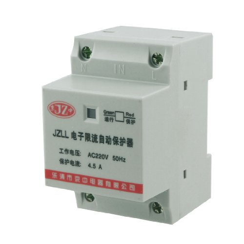 Ac 220V 4.5A Overload Protector Electronic Circuit Breaker 35Mm Din Rail Mount