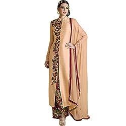 Vasu Saree Peach Printed Bhagalpuri Designer Palazzo Suit