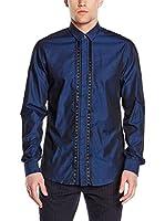 Just Cavalli Camisa Hombre (Azul Eléctrico)